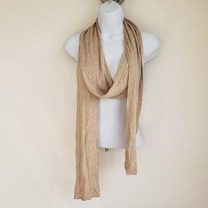Tan cashmere scarf